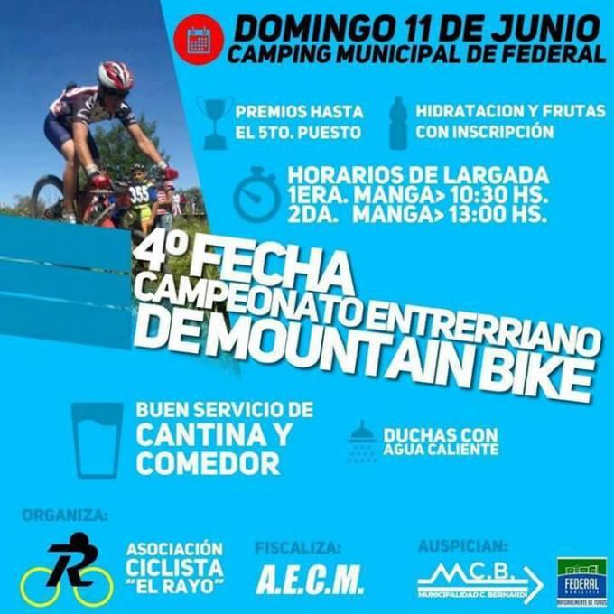 Se disputará el campeonato entrerriano de mountain bike en Federal
