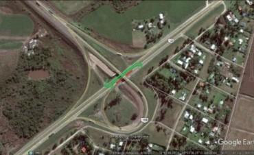 Se desviará el tránsito por el carril sentido sur en la obra del acceso norte a Paraná