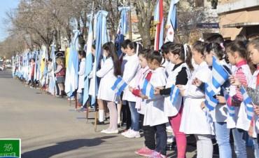 El Intendente Municipal encabezó el acto central por el día de la bandera nacional