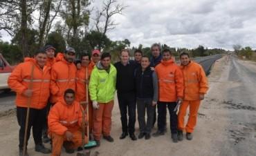 En frentes simultáneos de obra se rehabilita la ruta 11 y se ejecuta la doble vía entre Paraná - Oro Verde
