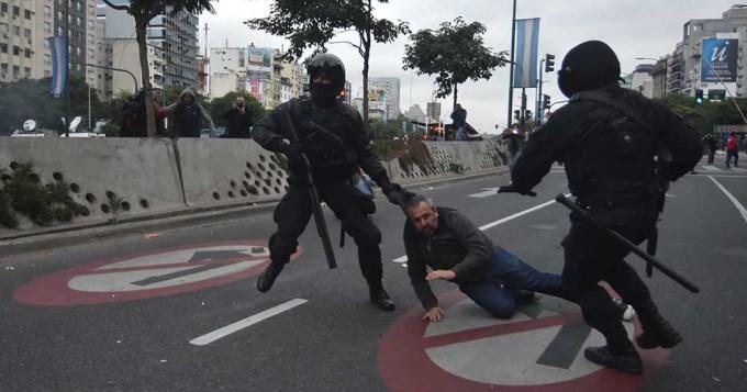 Liberaron a los 8 detenidos durante la manifestación en la 9 de Julio