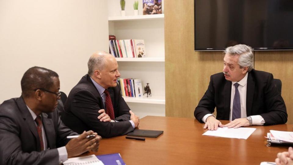 El precandidato de TODOS, Alberto Fernández, manifestó su disposición a revisar el acuerdo con el FMI