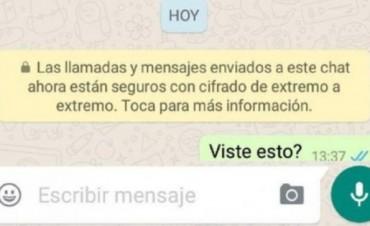 ¿Qué significa el nuevo mensaje que aparece en WhatsApp?