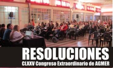 Resoluciones del Congreso de AGMER – Paro de 48 hs. el lunes 25 y martes 26 de julio
