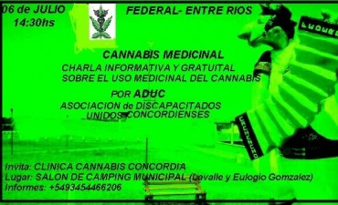 Charla informativa y gratuita sobre el uso medicinal del cannabis