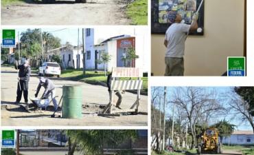 Se realizan tareas de mantenimiento en varias partes de la ciudad