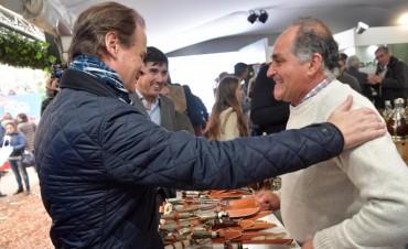 """BORDET EN LA EXPO RURAL EN BUENOS AIRES - POCHO LUNA ENTRE LOS EXPOSITORES  """"Hay entendimiento con el sector productivo"""""""