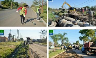 Se realizan tareas de mantenimiento en la ciudad