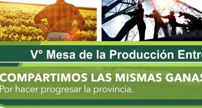 FEDERAL SERÁ SEDE DE LA 5° MESA PROVINCIAL DE PRODUCCIÓN