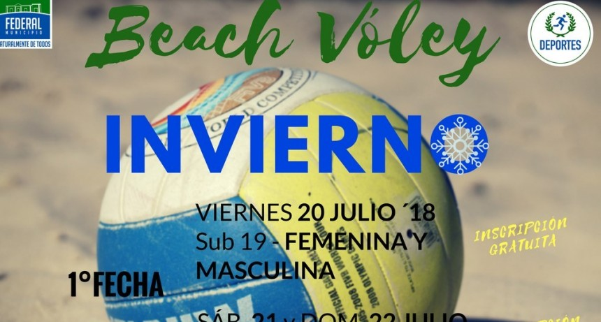 EL VIERNES ARRANCA EL CIRCUITO FEDERALENSE DE BEACH VÓLEY INVIERNO