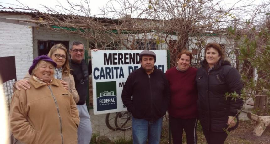 APORTE DE MATERIALES PARA MEJORAS EN EL MERENDERO CARITA DE ÁNGEL