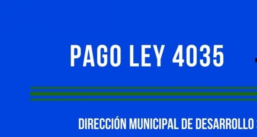 PAGO LEY 4035