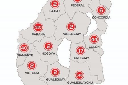 En Entre Ríos este sábado se registraron 17 nuevos casos de coronavirus