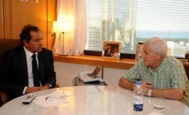 Scioli prometió a la mesa chica de la CGT modificar el Impuesto a las Ganancias