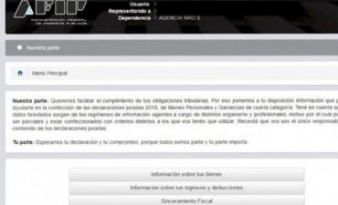 Cómo informa la web de la AFIP las inconsistencias de cada contribuyente