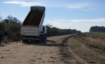 Obra de reposición parcial de ripio , tramo Federal , Ruta Pcial N 28