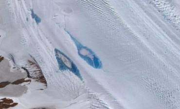 Rápido calentamiento global: Detectaron formación de lagos en la Antártida