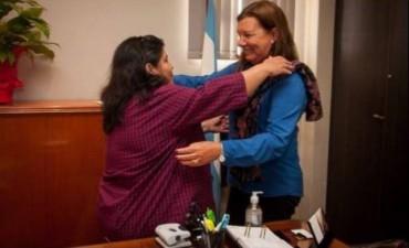 La titular de Vialidad recibió a la senadora Nancy Miranda