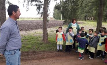 """La unidad educativa Nº 33 """"GURISITOS"""" visitó emprendimientos dependientes del Municipio"""