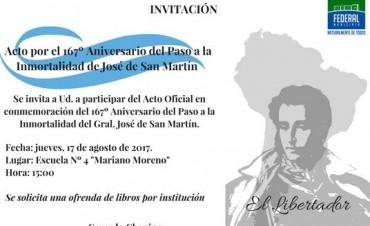 ACTO OFICIAL POR EL 167º ANIVERSARIO DEL PASO A LA INMORTALIDAD DE JOSÉ DE SAN MARTÍN
