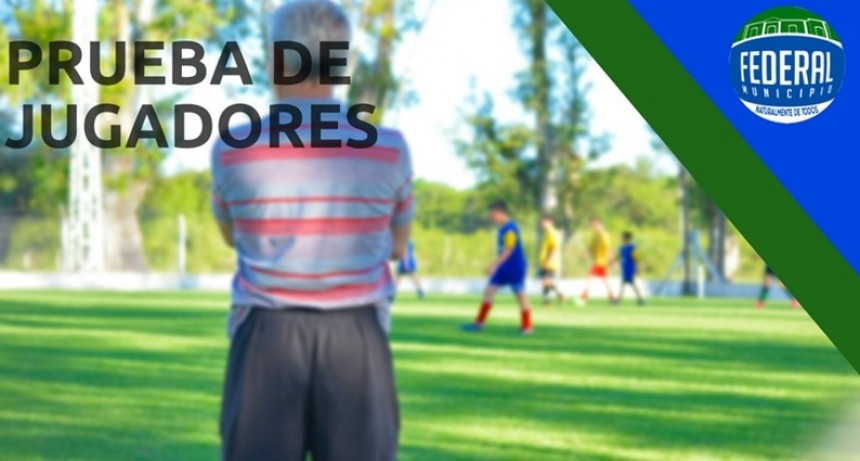 Mañana se realiza la prueba regional de jugadores en Federal