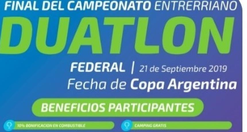FINAL DEL ENTRERRIANO DE DUATLÓN EN FEDERAL