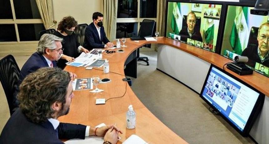 Fernández, con los gobernadores, evaluó volver a un aislamiento más estricto en Entre Ríos y otras 10 provincias