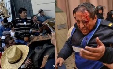 Hubo incidentes y policías heridos en la protesta del campo