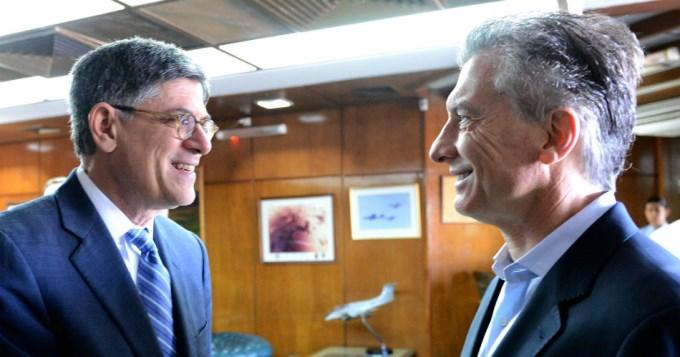 Macri recibió al secretario del Tesoro yanqui