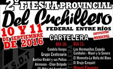 Ultiman detalles para el arranque de la 2° Fiesta Provincial del Cuchillero