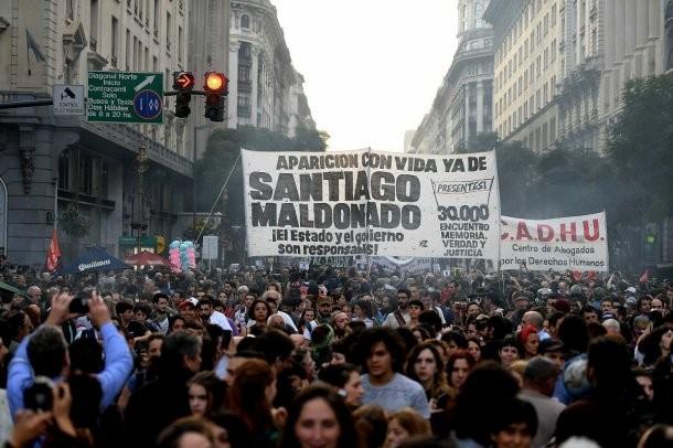 Todo el país marcha por la aparición con vida de Santiago Maldonado
