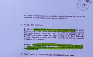 El documento donde Gendarmería desmiente a Bullrich y admite la responsabilidad de Noceti