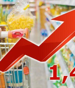 La inflación de agosto fue de 1,4%