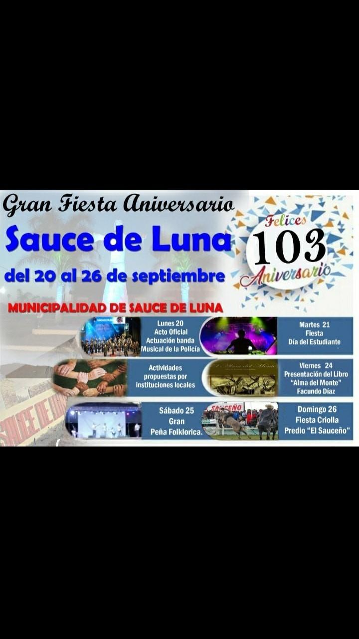 Festejos del 103 Aniversario de Sauce de Luna