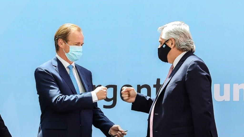 Bordet manifestó su respaldo hacia Alberto Fernández