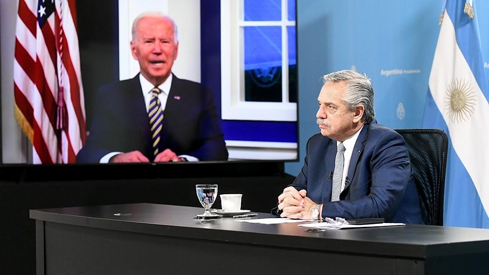 Fernández planteó ante Biden mejores condiciones de financiamiento para enfrentar la crisis climática