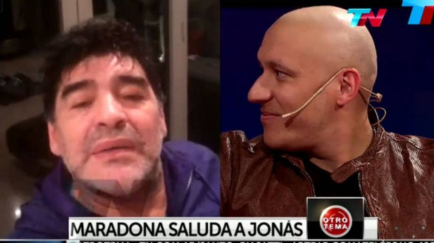 Emotivo mensaje de Maradona a Jonás Gutiérrez
