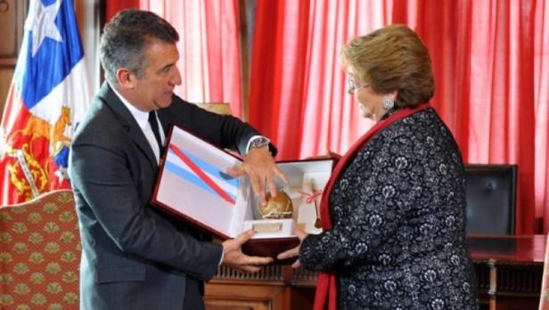 Urribarri, Bordet y Bahl fueron recibidos por la Presidenta de Chile