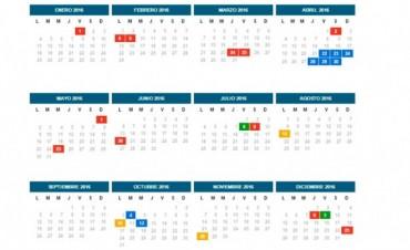 El cronograma completo de feriados para el año próximo