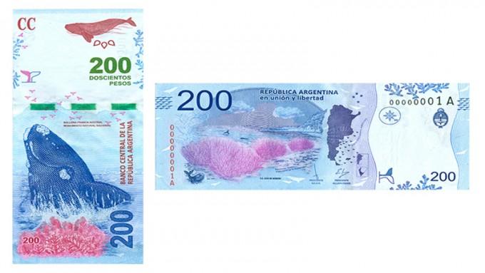 Las medidas de seguridad del nuevo billete de $200 con la ballena