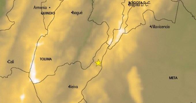 Temblor de 5,4 grados sacudió a Colombia
