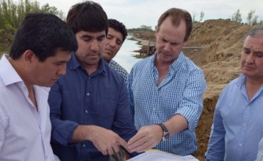 El gobierno provincial inició la obra de defensa de Villa Paranacito