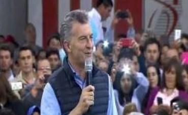"""En La Paz, Macri instó a seguir trabajando: """"Vamos por el camino correcto"""", afirmó"""