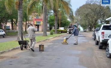 Reparación de baches en calles de la Ciudad