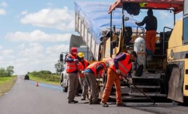 La obra de repavimentación en la ruta 16 presenta un 40 por ciento de avance