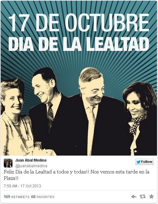ACTO POR EL DÍA DE LA LEALTAD PERONISTA, HOY EN LA SEDE DE ANDERSON Y ARIENTI