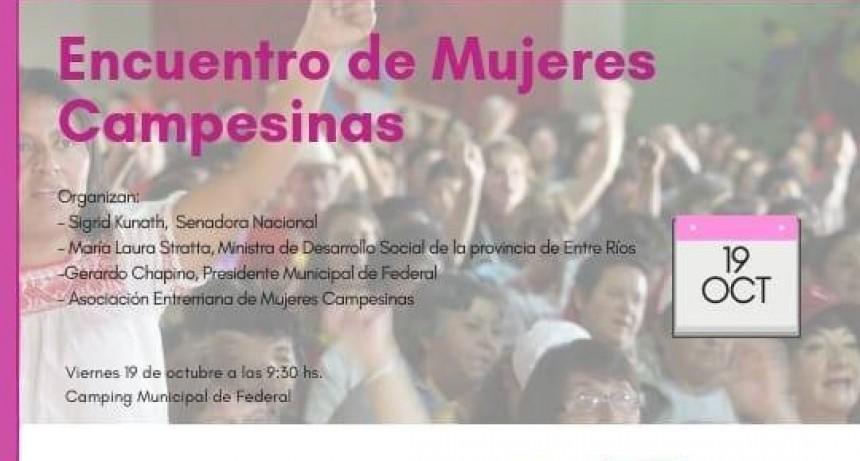 Realizarán un encuentro de Mujeres Campesinas en Federal