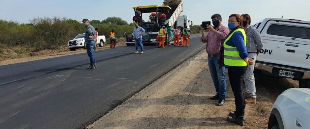 La obra de rehabilitación de la ruta provincial 6 tiene un 30 por ciento de avance a un mes de su inicio
