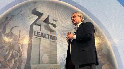 El mensaje de Alberto Fernández en el Día de la Lealtad: