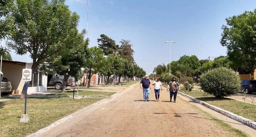 Recorrieron e inspeccionaron los avances de obra de los CORDONES - CUNETA en Conscripto Bernardi